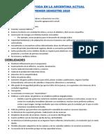 Analisis Foda en La Argentina Actual