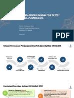 Tata Cara Pengusulan DAK 2022 dan Manual Pengusulan KRISNA