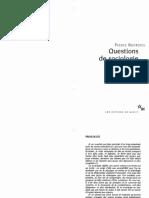 Bourdieu Pierre Questions de Sociologie 2002