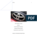 Total Quality in Toyota