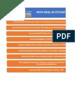 Rota Ideal de Estudo para as principais carreiras - Elaborada por Rodrigo Menezes - 10-2020