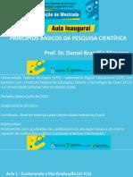 A1_Princípios Básicos Da Pesquisa Científica_Prof Dr. Daniel Brandão