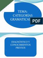 DIAGNOSTICO - DE CATEGORIAS GRAMATICALES