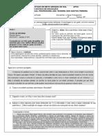 APC3- 3º ano F - Lingua Portuguesa
