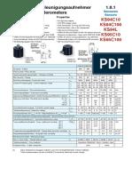 Accelerometer KS94C100_Datasheet