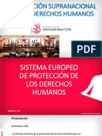 UPSJB 2021-1 Semana 09 Clase SISTEMA EUROPEO DE PROTECCIÓN DE LOS DERECHOS HUMANO