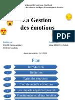 La Gestion des émotions1