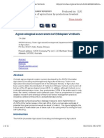 Agroecological assessment of Ethiopian Vertisols