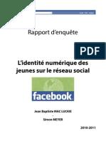 Enquête Facebook-Identité numérique