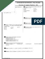 Conjuntos Numéricos e Intervalos 2011