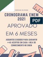 Cronograma Enem 6 Meses - Vinícius Oliveira