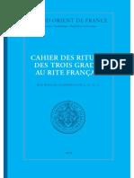 GRAND ORIENT de FRANCE - Cahier Des Rituels Des Trois Grades Au Rite Français (2018) -Apprenti