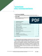 Analyse de l'uranium et des éléments transuraniens