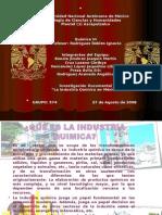 Diapositivas en Equipo de la Industria Química en México