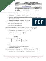 Maths devoir surveillé N°1 TLe SEXP