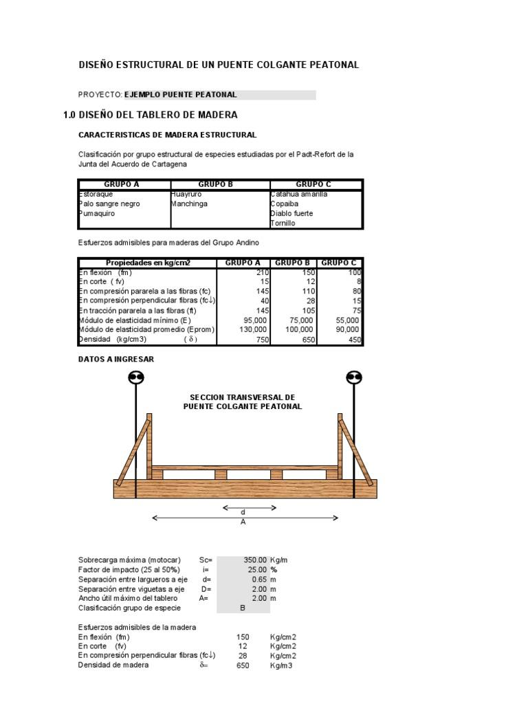 Dise o puente colgante for Diseno estructural pdf