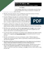 Fact Sheet Michigan Senate Bill 408