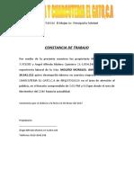 CONSTANCIA DE TRABAJO de michel