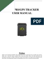 TK102 GPS tracker user manual