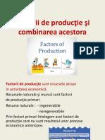 Factorii de productie si combinarea acestora