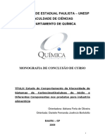 Estudo do Comportamento da Viscosidade de Sistemas de CMC