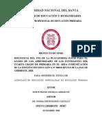 TESIS  - ESTRATEGIA  APRENDO EN CASA