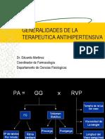 Generalidades antihipertensivos