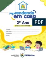 Aprendendo Em Casa - Caderno 2º Ano Integrado 1 - 2021