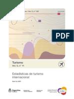 Turismo Internacional, Abril 2021. INDEC.