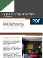 Negrul in design-ul interior