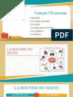 Francés VII Semana Noveno y Décimo Grado