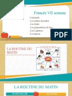 Francés VII Semana Onceavo y Doceavo Grado