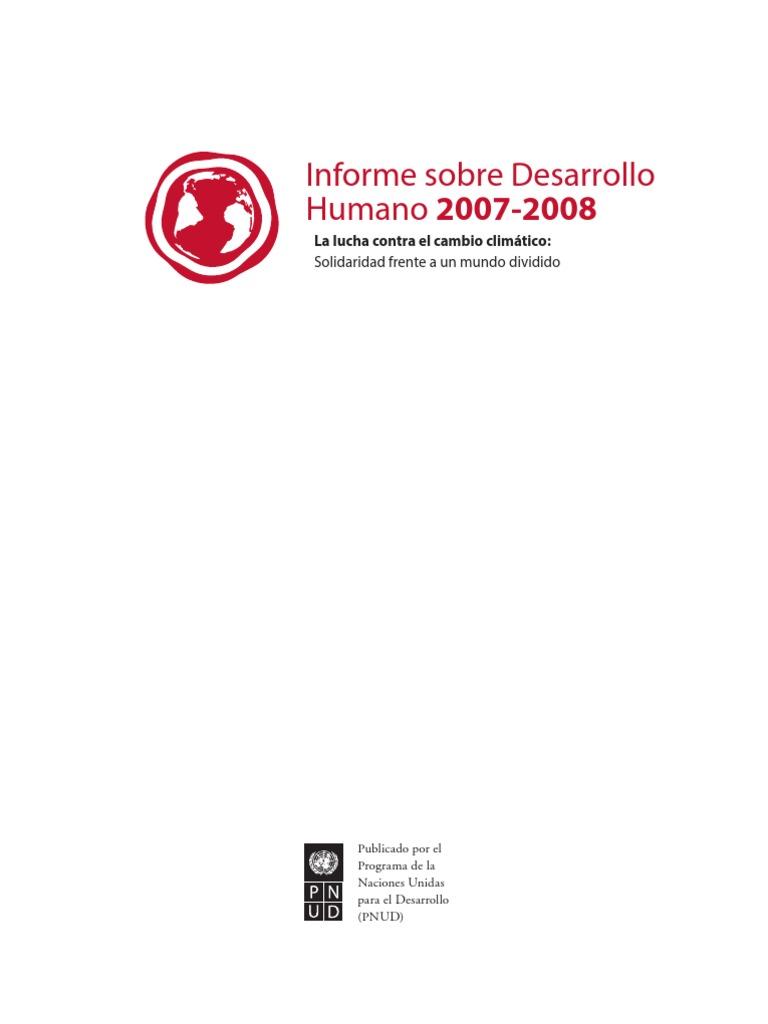 Informe de Desarrollo Humano 2007-2008 Documento Completo