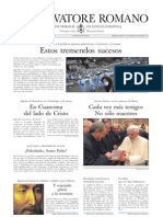 L´Osservatore Romano - No. 2203 - Portada de la Edición Semanal en Español