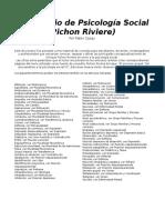 Diccionario de Psicologia Social Pichon