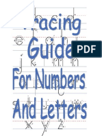 Printable Tracing Guide For Writing Numbers and Letters