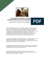 Filosofía Masónica, Génesis y Cosmovisión de los Antiguos Linderos - Antonio E. Wong Ferreyra