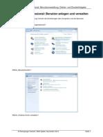 Windows 7 Benutzer, Datei- und Druckerfreigaben