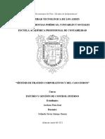 SINTESIS DE FRAUDES CORPORATIVOS y caso ENRON