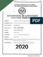 EXP. COA. N.° 3477-2020/DRC (DÁVILA ARANCIBIA Irene Isabel). 23 págs. EMBARGO BCP