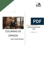 Lectura mes de mayo Columnas de opinión de Cristian Warnken (1)