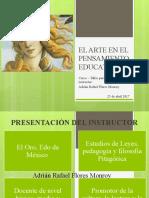 EL ARTE EN EL PENSAMIENTO EDUCATIVO