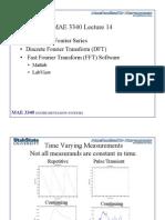 MAE 3340 S11 Lecture 14 Discrete Fourier Series