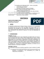 Resolución de juez que libera a Vladimir Cerrón