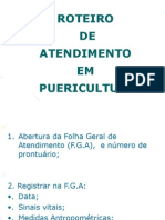 ROTEIRO DE ATENDIMENTO DE PUERICULTURA - AULA 6