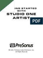 Studio One Artist Start Guide web