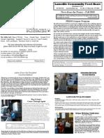 2010 Fall Newsletter