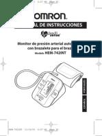Manual do Medidor de Pressão Homron HEM-742INT