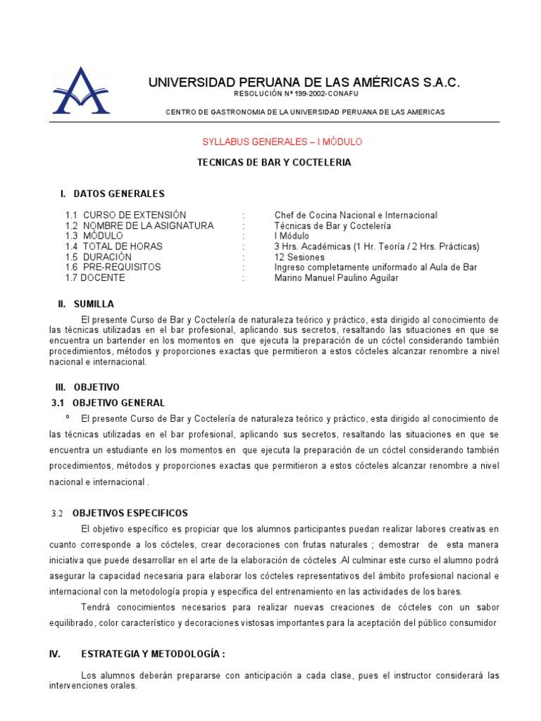 Hermosa Buen Ejemplo De Currículum De Coctelería Molde - Ejemplo De ...