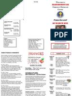 Newsletter 20 Mar 2011